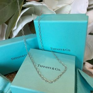 """Tiffany & Co Oval Link 18"""" chain necklace"""